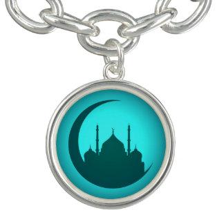 Bracelete do encanto da prata do fundo da mesquita
