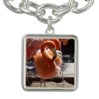 Bracelete do encanto do flamingo