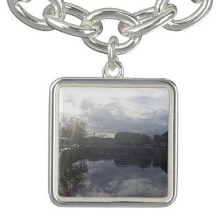 Bracelete do encanto do nascer do sol do rio de