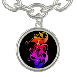 Bracelete do encanto do redemoinho do arco-íris