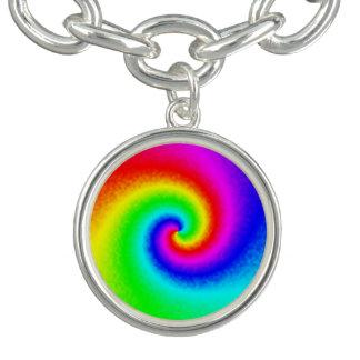 Bracelete do encanto do redemoinho do arco-íris da