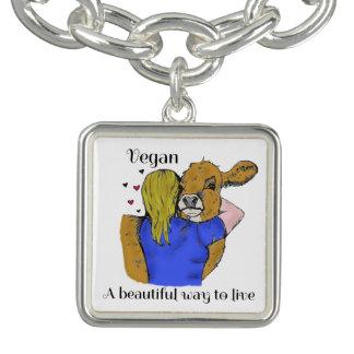 Bracelete do encanto do Vegan