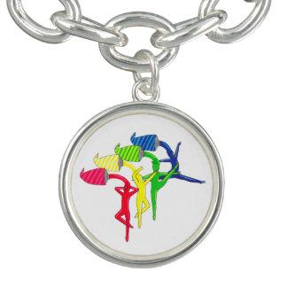 Bracelete do encanto dos dançarinos do arco-íris