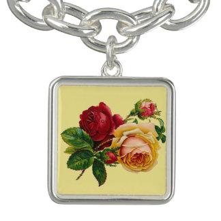 Bracelete do encanto dos rosas do Victorian