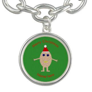 Bracelete engraçado do encanto do ovo do Natal