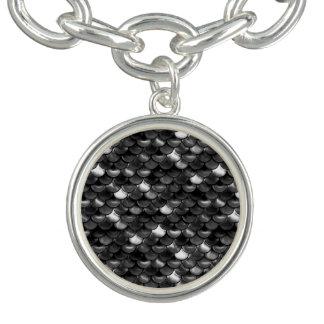 Bracelete Escalas preto e branco de Falln