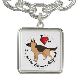 Bracelete Eu amo meu cão de german shepherd