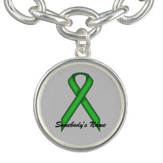 Bracelete Fita padrão verde por Kenneth Yoncich