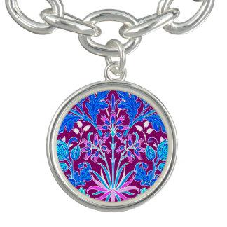 Bracelete Impressão, Aqua e roxo do jacinto de William