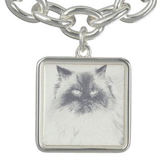 Bracelete tirado mão do encanto do gato