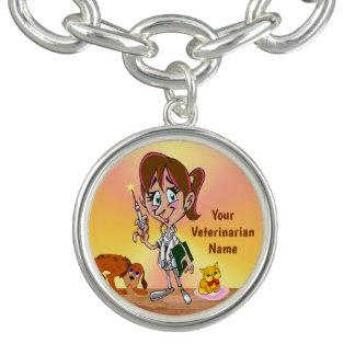 Bracelete veterinário personalizado do encanto ou