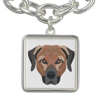 Braceletes Cão Brown Labrador da ilustração