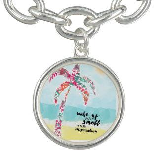 Braceletes Com Charm acorde e cheire a inspiração, a praia e a palma