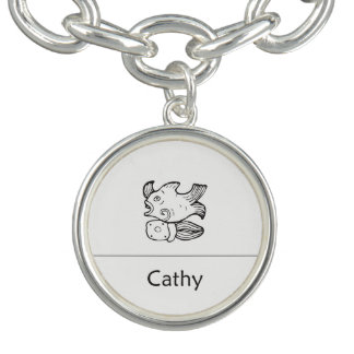 Braceletes Com Charm Cathy no pendente maia