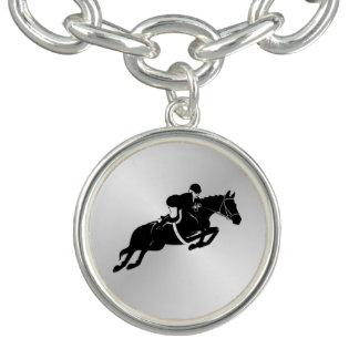 Braceletes Com Charm Cavalo equestre da ligação em ponte