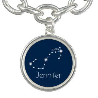 Braceletes Com Charm Constelação personalizada do zodíaco da Escorpião