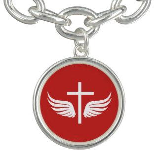 Braceletes Com Charm Cruz cristã