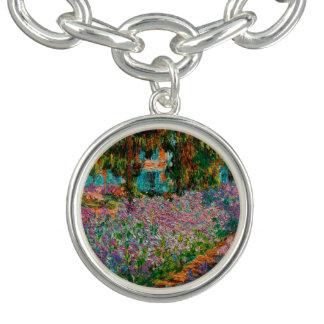 Braceletes Com Charm Íris em Giverny Claude Monet