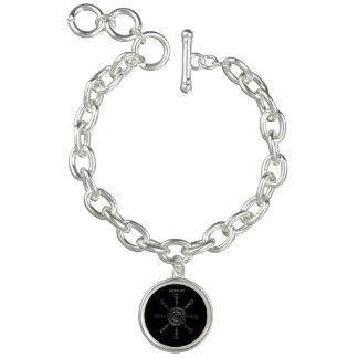 Braceletes Com Charm Rune☼ ancestral e espiritual do ☼Aegishjalmur -