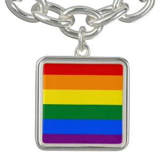 Braceletes Com Charms Bandeira do arco-íris
