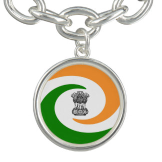 Braceletes Com Charms Bandeira espiral indiana
