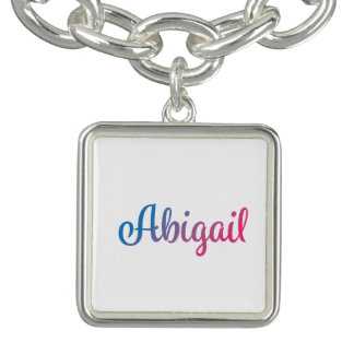 Braceletes Com Charms Cursive à moda de Abigail