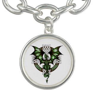 Braceletes Com Charms Dragão celta