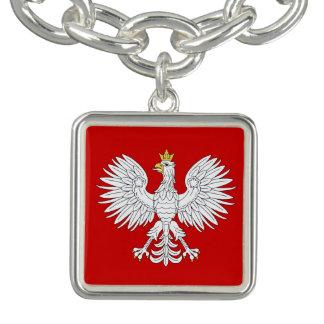 Braceletes Com Charms Eagle polonês