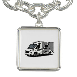 "Braceletes Com Charms Encantos do motorhome do estilo de ""Accordo"""