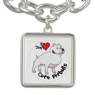 Braceletes Com Charms Eu amo meu cão engraçado & bonito adorável feliz