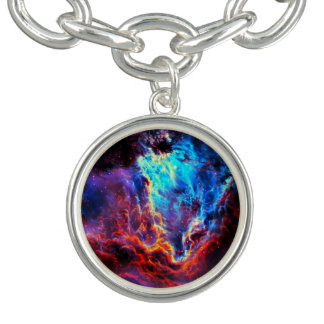 Braceletes Com Charms Nebulosa composta da estrela da cor imponente