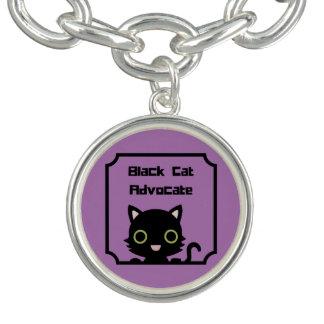 Braceletes Com Pingente Advogado do gato preto