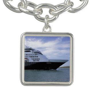 Braceletes Com Pingente Arco lustroso do navio de cruzeiros