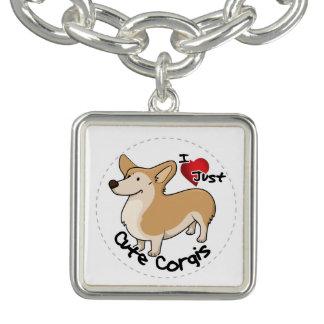 Braceletes Com Pingente Cão engraçado & bonito adorável feliz do Corgi