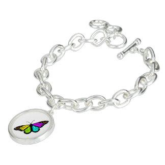 Braceletes Com Pingente Clipart colorido da borboleta