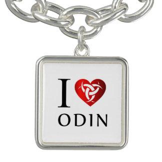 Braceletes Com Pingente Eu amo Odin