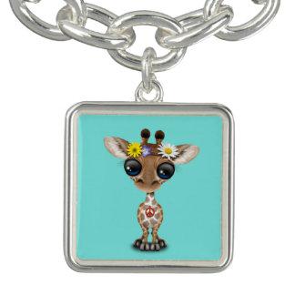 Braceletes Com Pingente Hippie bonito do girafa do bebê