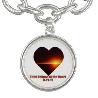 Bracente Com Charm Eclipse total do encanto do coração