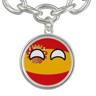 Bracente Com Charm Espanha Geeky de tensão engraçada Countryball