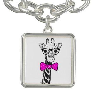 Bracente Com Charm Girafa do hipster