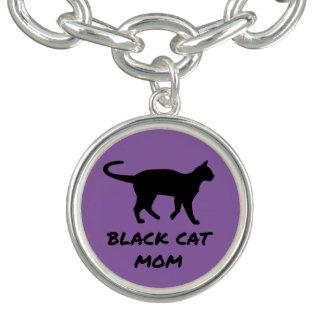 Bracente Com Charm Mamã do gato preto