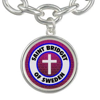 Bracente Com Charm Santo Bridget da suecia