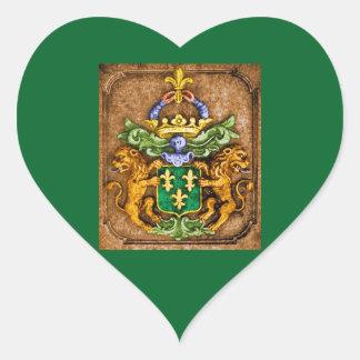Braços da família de Westerfield na etiqueta verde