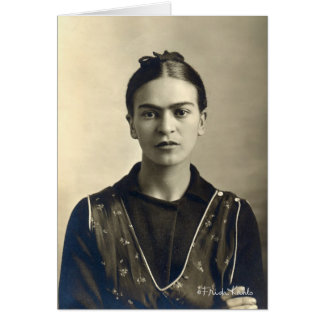 Braços de Frida Kahlo cruzados Cartão Comemorativo