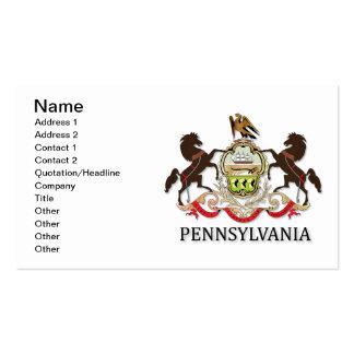 Braços do estado de Pensilvânia Modelo Cartão De Visita