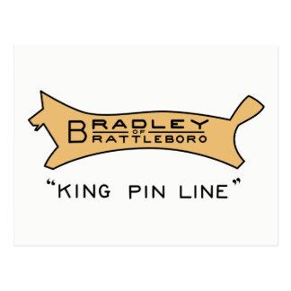 Bradley da linha cartão do rei Pin de Brattleboro