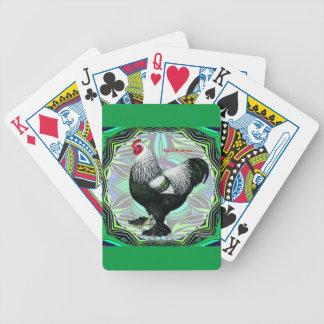 Brahma:  Galo escuro extravagante Baralhos De Poker