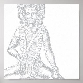 Brahma (prata) impressão