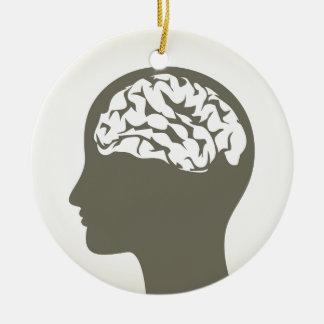 Brain5 Ornamento De Cerâmica