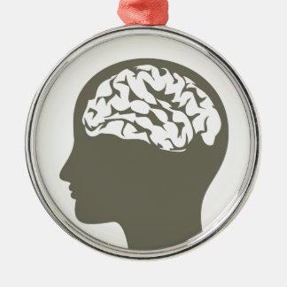 Brain5 Ornamento De Metal
